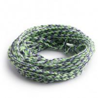 Strings 100% Polyester: Green-Purple-White
