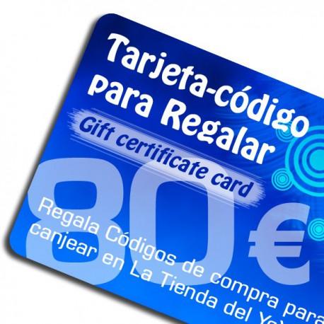 Tarjeta-Código Regalo 80 euros