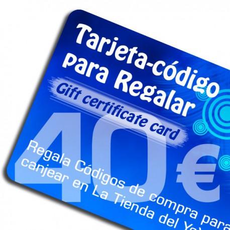 Gift card 40 €