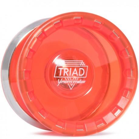 YoYoRecreation Triad Translucent Red