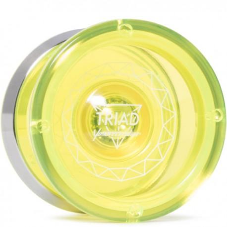 YoYoRecreation Triad Translucent Yellow