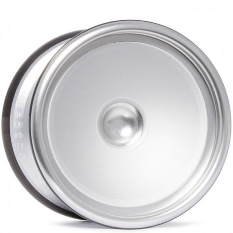 C3yoyodesign Fingerspin Silver/Black Rings