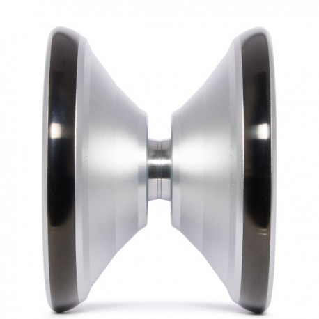 C3yoyodesign Fingerspin Silver/Black Rings SHAPE