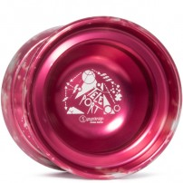 C3yoyodesign Teleport Red/Silver Acid Wash