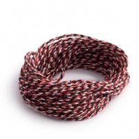 Strings 100% Polyester: Red-Black-White