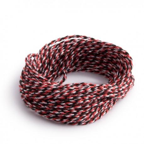 3 Cuerdas 100% Poliéster: Rojo-Negro-Blanco