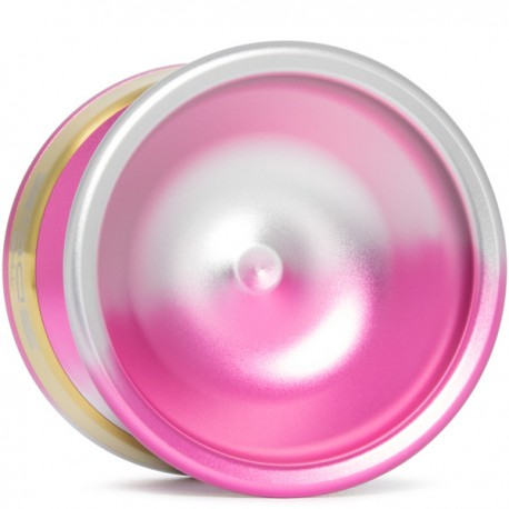 YoYoFactory EDGE Pink/Silver Fade with Gold Rings (Ann Connolly Ed.)