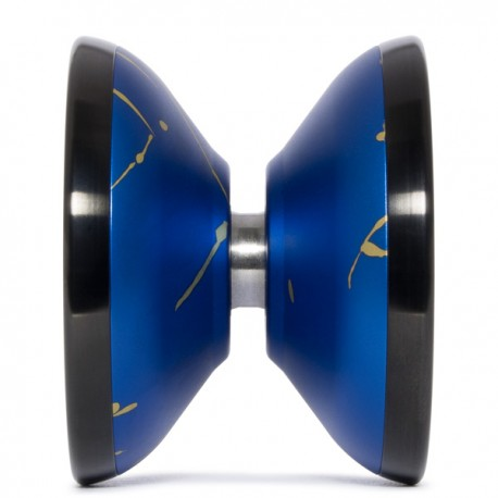 Magicyoyo Stealth Blue with Gold Splash/ Black Rings SHAPE