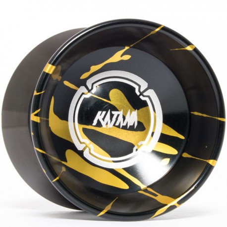 Magicyoyo Katana Black w/ Gold Splash - Black Rings