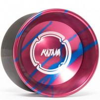 Magicyoyo Katana Red w/ Blue Splash - Black Rings