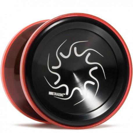 YoYoFactory Nine Dragons Black / Translucent Red Shell
