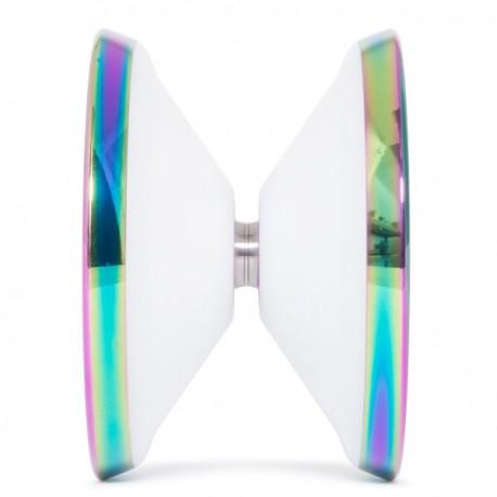C3yoyodesign Mega Crash White / Rainbow Rings