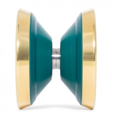 C3yoyodesign Gamma Crash Green / Gold Rings