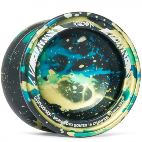 C3yoyodesign Krown Black / Yellow / Blue