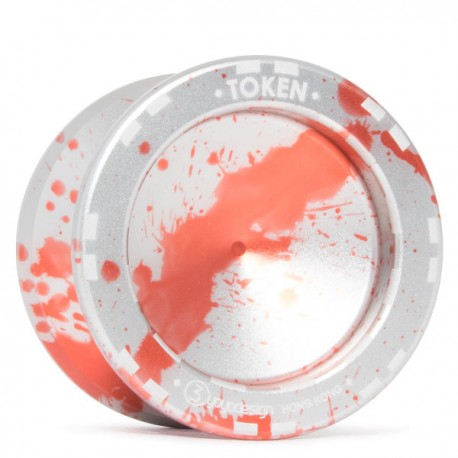 C3yoyodesign Token 2018 Orange / Silver Splash