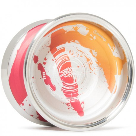 C3yoyodesign Atomic Crash Orange / Red / Silver