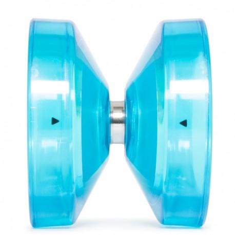 YoYoFactory Wedge Translucent Aqua w/ Silver Hub SHAPE