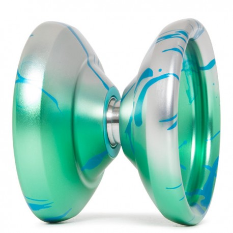 YoYoFactory Shutter Green / Blue Splash