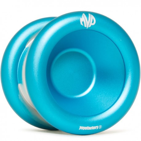 YoYoFactory MVP 3 Aqua / Silver Dip, Engraving - Simple Rim Logo