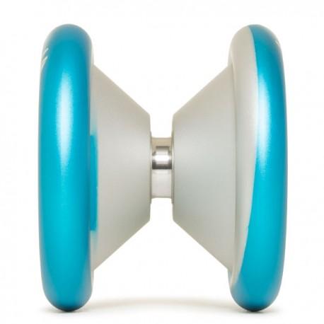 YoYoFactory MVP 3 Aqua / Silver Dip, Engraving - Simple Rim Logo SHAPE