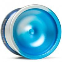 YoYoFactory EDGE Aqua/ Silver Fade / Blue Rings