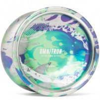 C3yoyodesign Omnitron Silver / Purple / Green Splash
