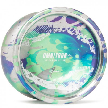 C3yoyodesign Omnitron Silver / Purple / Green Splash