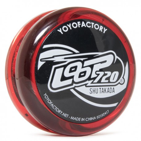 YoYoFactory Loop 720 Translucent Red / Black Caps