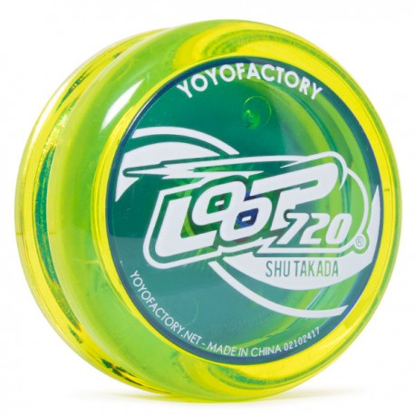 YoYoFactory Loop 720 Translucent Yellow / Translucent Blue Caps