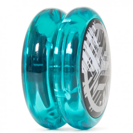 C3yoyodesign Initiator Clear Blue body / Solid Black cap