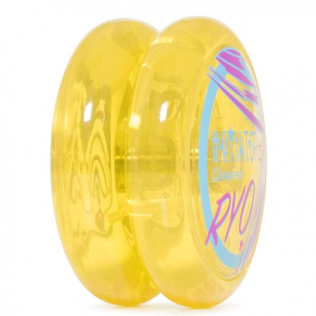 C3yoyodesign Initiator Player Ed. Clear Yellow body / Clear Yellow Blue cap