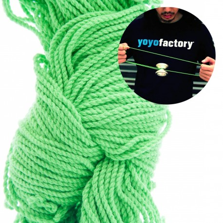 YoYoFactory String 10 pack. (Bright Green 100% Polyester)