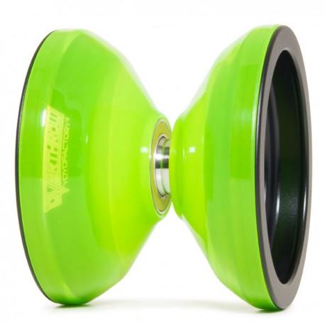 YoYoFactory Overthrow Translucent Neon Green / Black Rims
