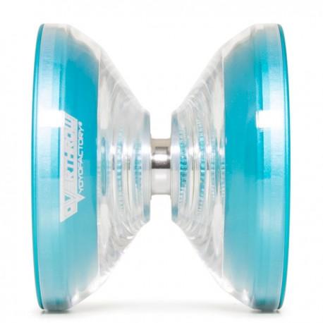 YoYoFactory Overthrow Clear / Blue Rims SHAPE