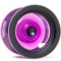YoYoFactory Overthrow Translucent Purple / Black Rims