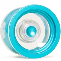 YoYoFactory Overthrow Clear / Blue Rims