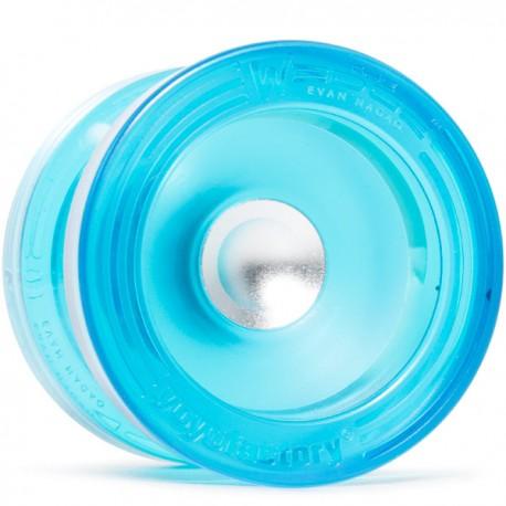 YoYoFactory Wedge Translucent Aqua w/ Silver Hub