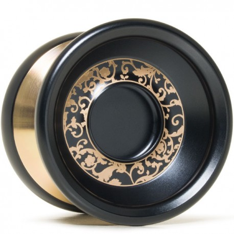 YoYoFactory Shutter Wide Angle Black / Gold Polished Rings and Gold Engraving