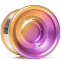 YoYoFactory Shutter Wide Angle Purple / Orange Fade / Silver Polished Rings