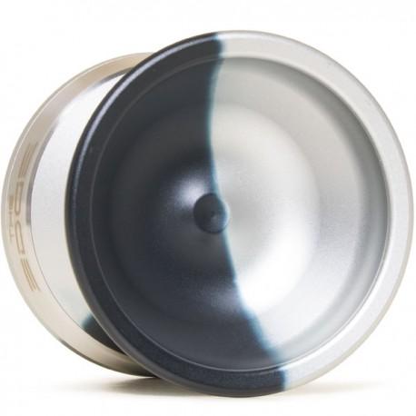 YoYoFactory EDGE Black/Silver Fade / Silver Rings