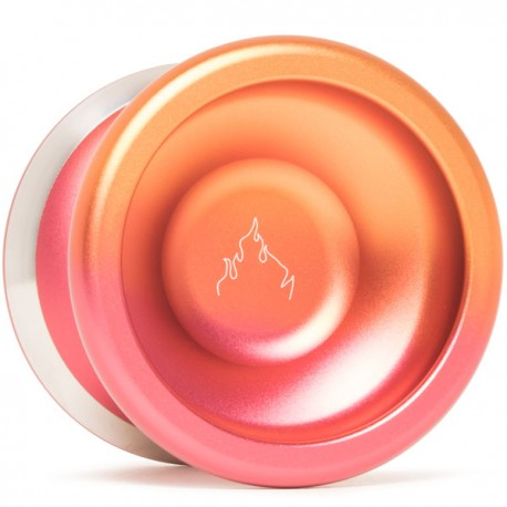 YoYoFactory Flame Orange/Red Fade w/ Silver Rims/Red Delrin