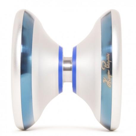 YoYoFactory Flame Silver w/ Blue Rims/Blue Delrin SHAPE