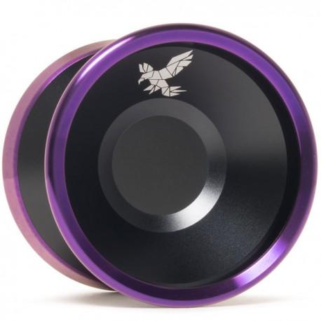 Yoyofriends Peregrine Black w/Purple Rings