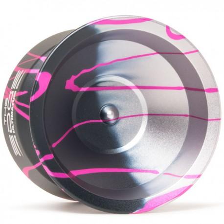 YoYoFactory Edge Ultimatum Black/ Silver Fade w/ Pink Splash