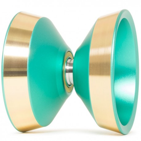 YoYoFactory Edge Ultimatum Green w/ Gold polished Rims (Kasuga Edition)