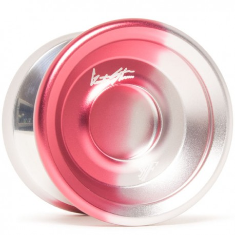 YoYoFactory Shutter Wide Angle Red / Silver Fade w/ Silver Polished Rings
