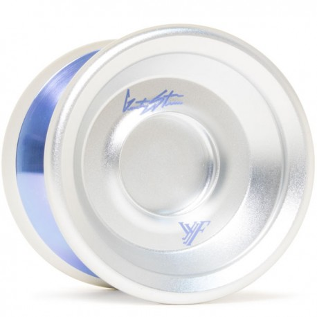 YoYoFactory Shutter Wide Angle Silver / Blue Polished Rings