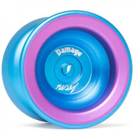 YoYoFactory Damage Aqua / Purple Rings