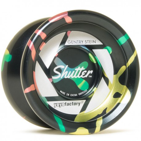 YoYoFactory Shutter Black / Rainbow Fade
