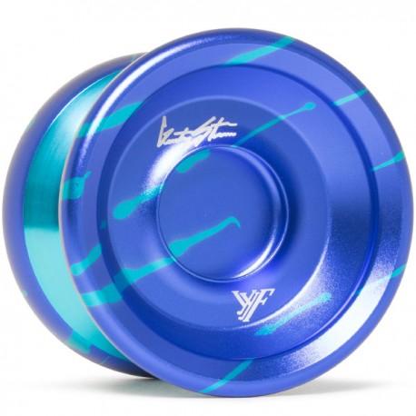 YoYoFactory Shutter Wide Angle Blue/Aqua Splash w/Aqua Rims